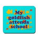 Goldfish attends school. Mousepad