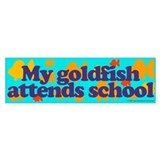 Goldfish attends school. Bumper Bumper Sticker