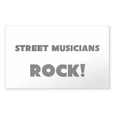 Street Musicians ROCK Rectangle Decal