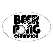 Beer Pong Oval Bumper Stickers