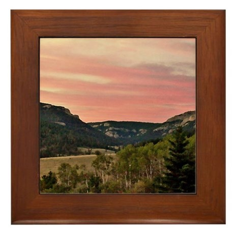 Central Montana Framed Tile