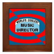 Cool Music Director Framed Tile