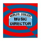 Cool Music Director Tile Coaster