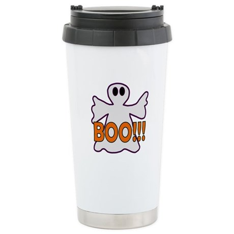 Boo Halloween Ghost Ceramic Travel Mug