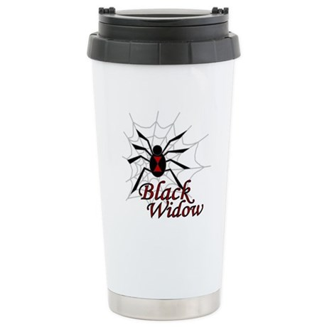 Black Widow Ceramic Travel Mug
