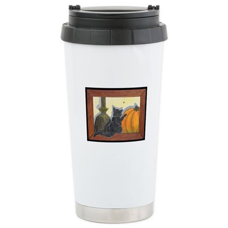Halloween Cat - Just the Art, Ceramic Travel Mug