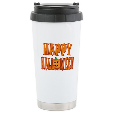 Happy Halloween Pumpkin Ceramic Travel Mug