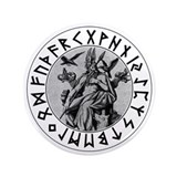 "Odin Rune Shield 3.5"" Button (100 pack)"