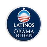 Obama Biden Latinos Ornament (Round)