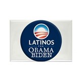 Obama Biden Latinos Rectangle Magnet