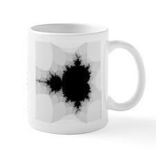grey/white Mandelbrot Mug