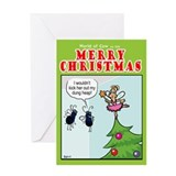 Flies and the fairy Greeting Card