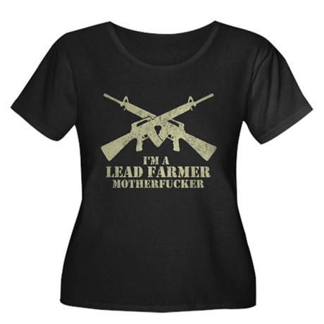 I'm a Lead Farmer Womens Plus Size Scoop Neck Dar