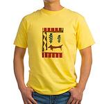 Weiner Dog Yellow T-Shirt