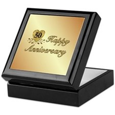 50th Anniversary Golden Heart Keepsake Box