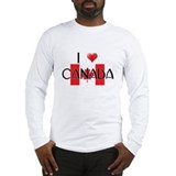 I LOVE CANADA Long Sleeve T-Shirt