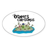 Others Christmas Oval Bumper Stickers