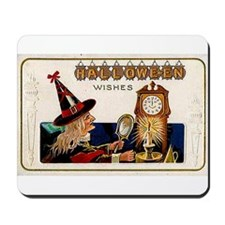 Halloween Witch & Clock Mousepad