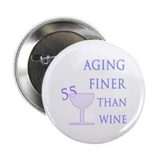 "Witty 55th Birthday 2.25"" Button (100 pack)"