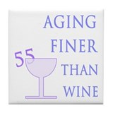 Witty 55th Birthday Tile Coaster