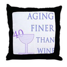 Witty 40th Birthday Throw Pillow