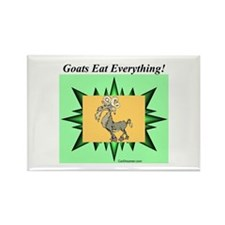 """Goats Eat Everything"" Rectangle Magnet"