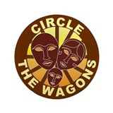 "Circle The Wagons 3.5"" Button (100 pack)"
