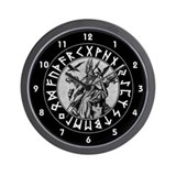 Odin Rune Shield Wall Clock