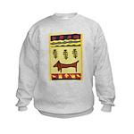 Weiner Dog Kids Sweatshirt