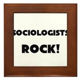 Sociologists ROCK Framed Tile