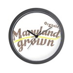 Organic! Maryland Grown! Wall Clock