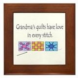 Grandma's quilts Framed Tile