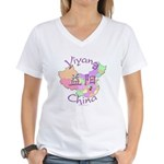 Yiyang China Women's V-Neck T-Shirt