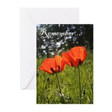 Twin Poppy Greeting Cards (Pk of 10)