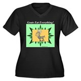 """Goats Eat Everything"" Women's Plus Size V-Neck Da"