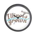 Organic! Illinois Grown! Wall Clock