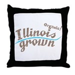 Organic! Illinois Grown! Throw Pillow