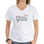 Organic! Illinois Grown! Women's V-Neck T-Shirt