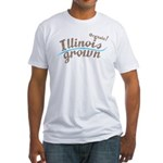 Organic! Illinois Grown! Fitted T-Shirt