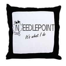 Needlepoint Throw Pillow