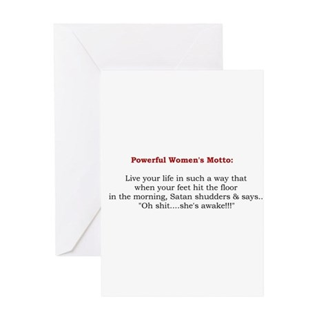 Powerful Women's Motto Greeting Card