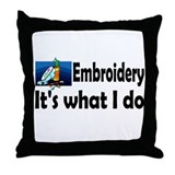 Embroidery Throw Pillow