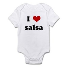 I Love salsa Infant Bodysuit