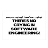 There's No Crying in Software Engineering Postcard