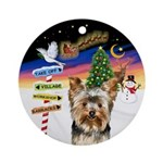 Xsigns-Yorkie (17) Ornament (round)