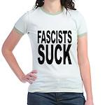 Fascists Suck Jr. Ringer T-Shirt
