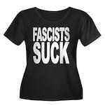 Fascists Suck Women's Plus Size Scoop Neck Dark T-