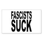 Fascists Suck Rectangle Sticker