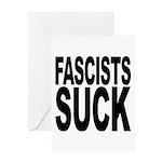 Fascists Suck Greeting Card