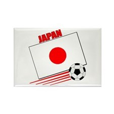 Japan Soccer Team Rectangle Magnet